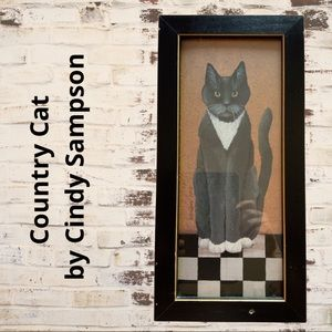 Country Cat by Cindy Sampson wall art